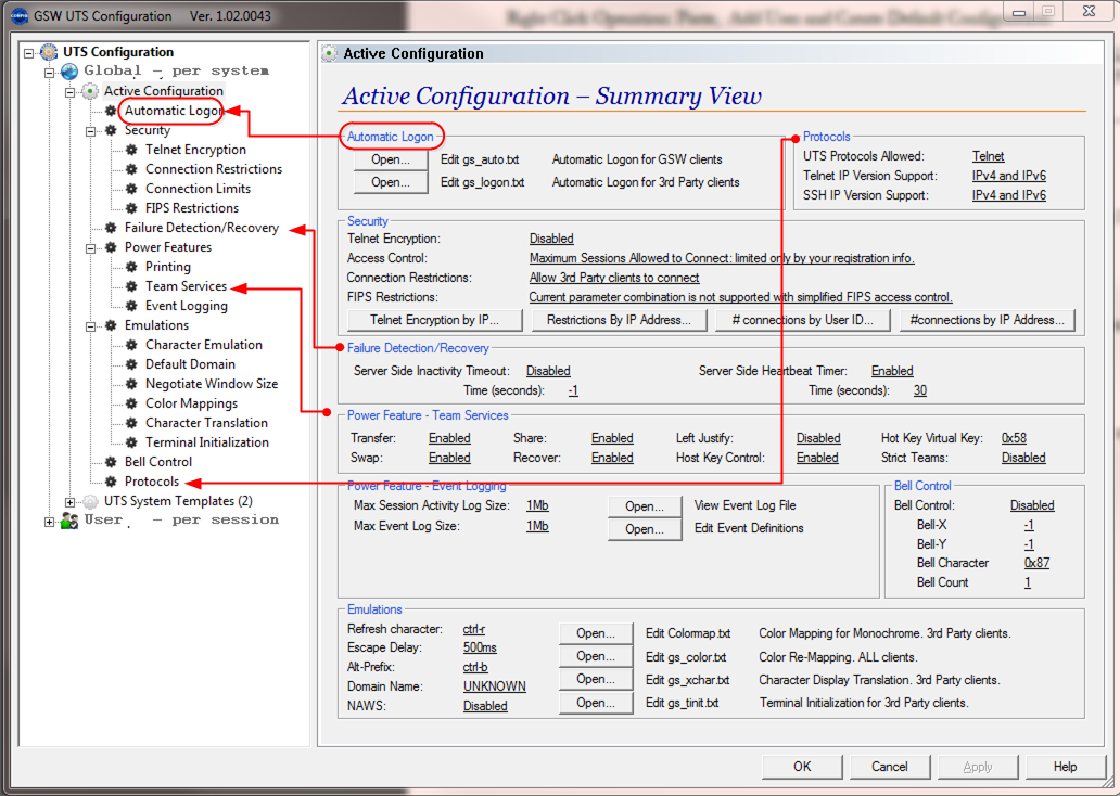 Active Configuration Summary View Explained